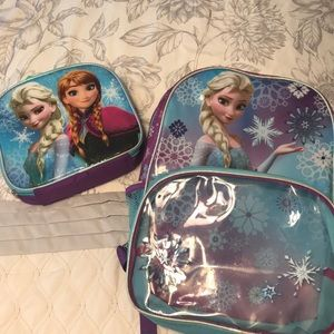 Frozen bookbag with lunch box